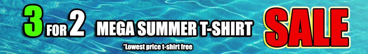 Mega Summer Sale T-shirts 3 for 2